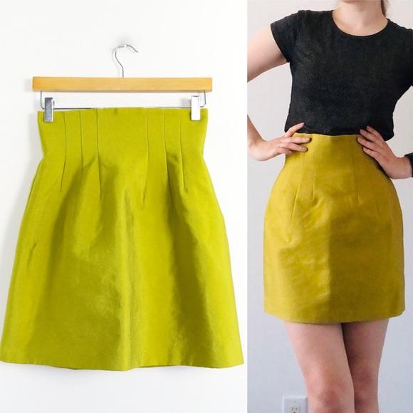 NWOT H&M lime green super high waist skirt trendy